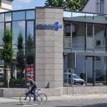 Geschäftshaus Sinzig, Aluminiumfassade hochwärmegedämmt, System Schüco