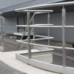 Abwasserwerk Köln, Geländer und Treppengeländer aus Edelstahl