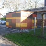 KiTa Dortmund, Unterstell-Häuschen für Kinderwagen und Fahrräder